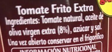 Tomate frito con aceite de oliva - Ingredients - es