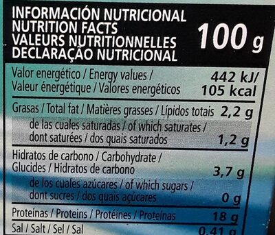 Navajas - Informations nutritionnelles - es