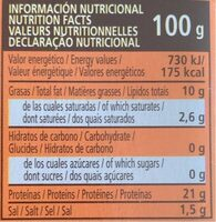 Sardinas en escabeche - Informació nutricional - es