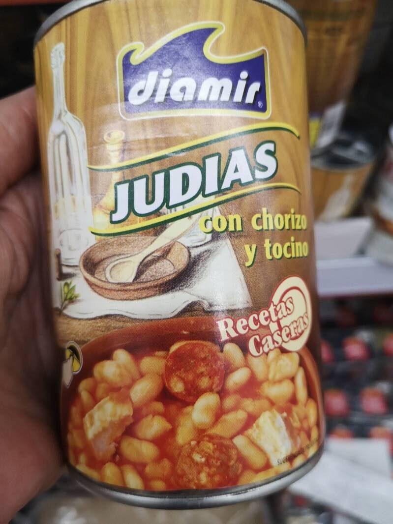Judias con chorizo y tocino - Product