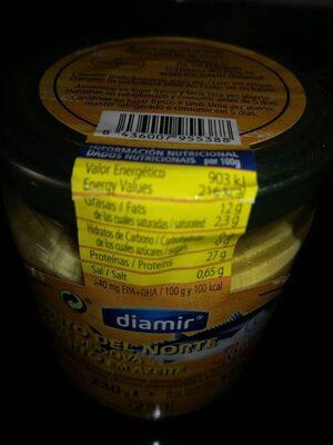 Bonito del norte en aceite de oliva - Nutrition facts