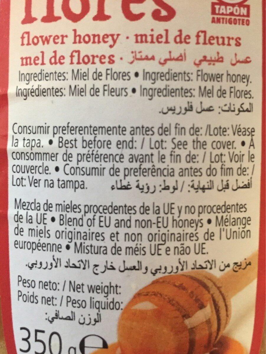 Miel flores - Ingredientes