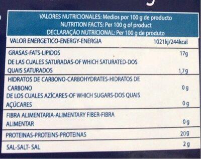 Atún en aceite de girasol - Voedingswaarden - es