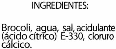 Brócoli en conserva - Ingredientes