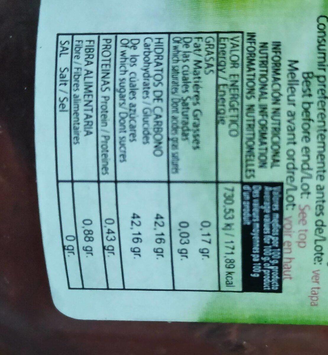Mermelada de fresa - Voedingswaarden - es