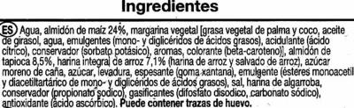 Pan de molde sin gluten - Ingrédients - es