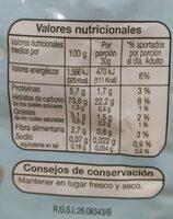 Harina de maíz sin gluten - Información nutricional - es