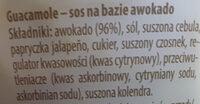 Guacamole - Ingrédients - pl