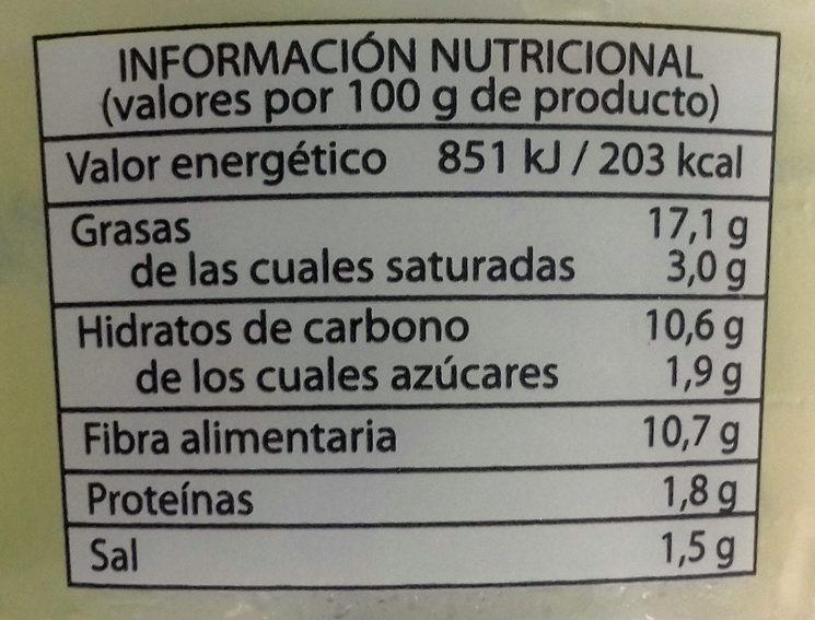 Guacamole natural fresco - Voedingswaarden
