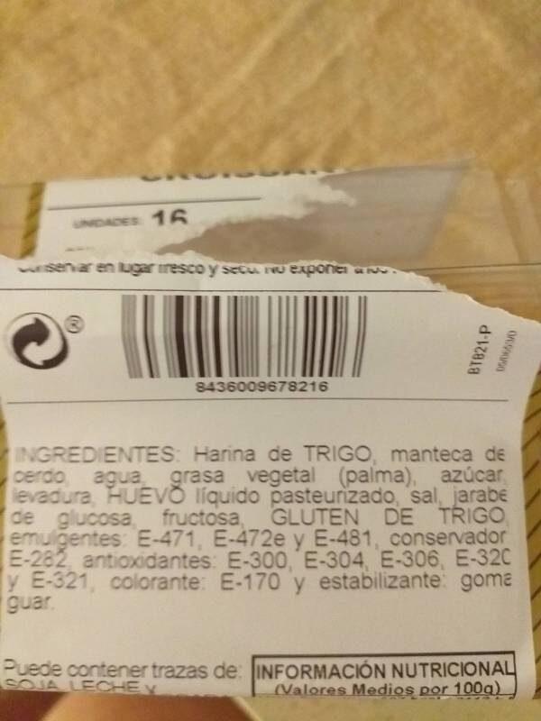 Croissants - Ingrediënten