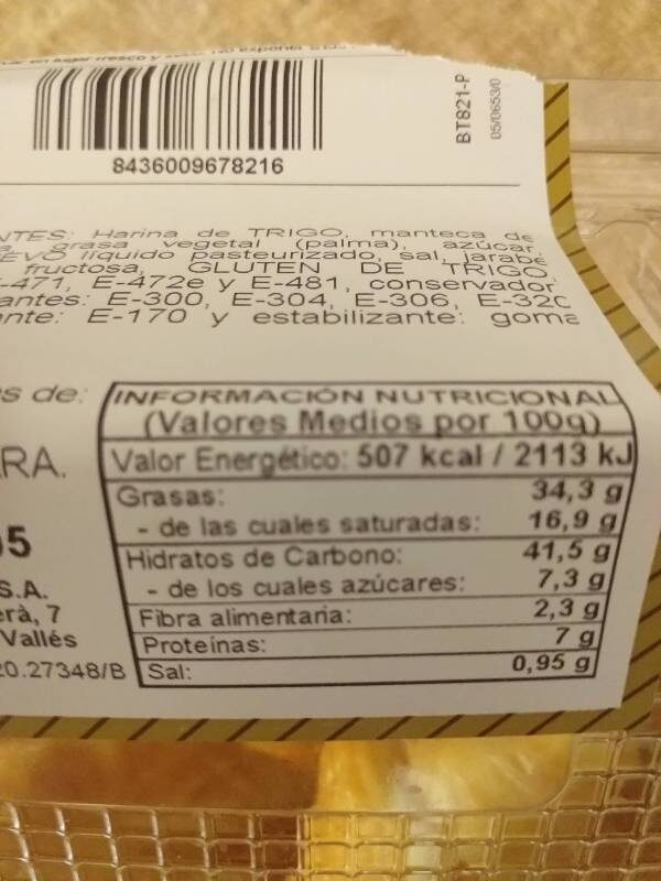 Croissants - Voedigswaarden