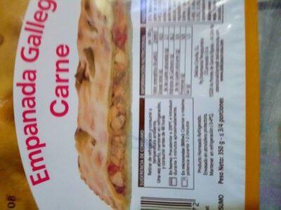 Empanada gallega carne - Nutrition facts - es