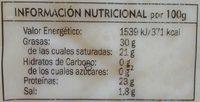 Queso Gouda - Informació nutricional