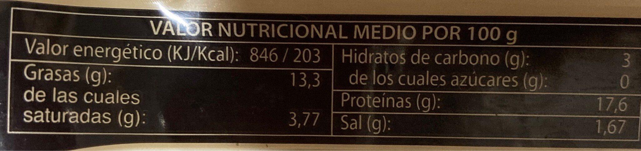 Boquerones en vinagre aliñados - Informations nutritionnelles - es