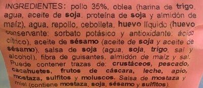 Dim sum pollo - Ingrédients - es