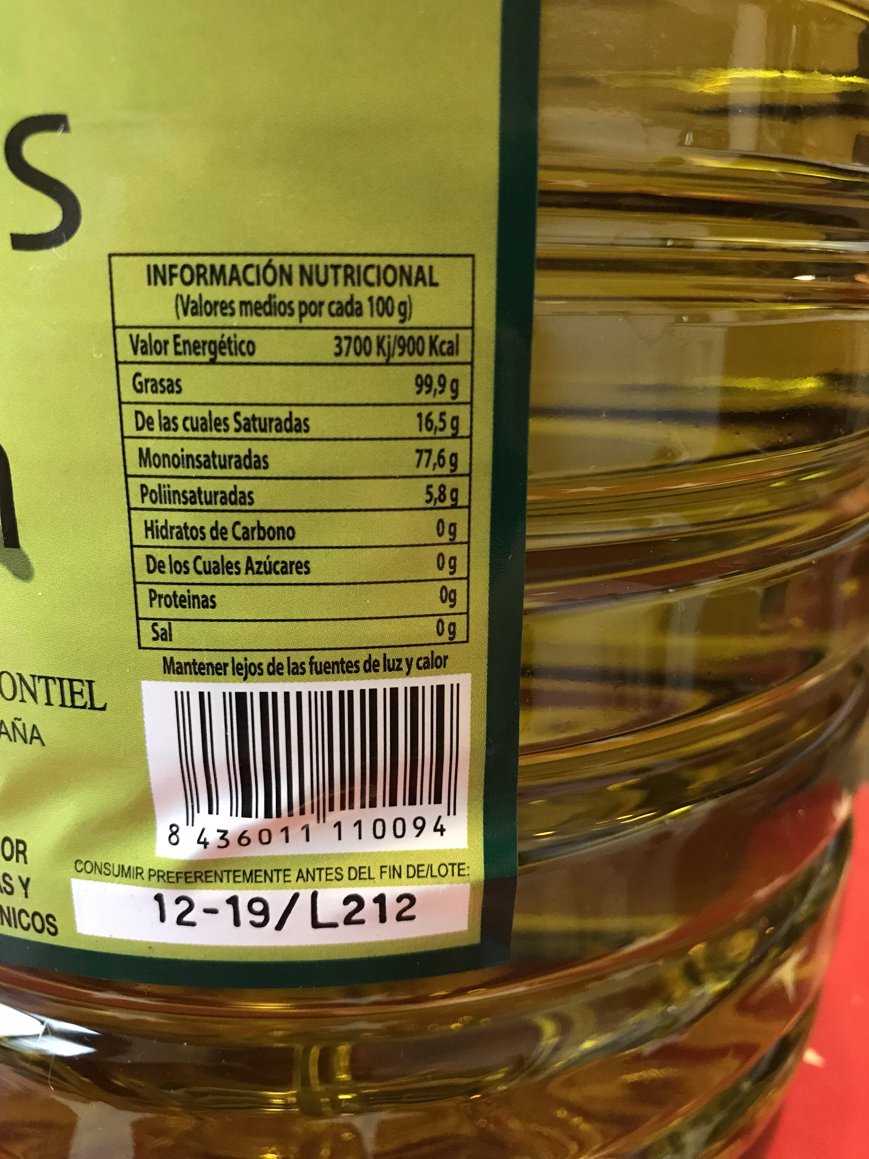 Molinos del Jabalón - Información nutricional
