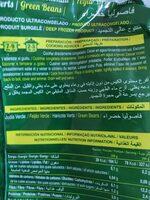 Judia verde redonda - Ingredients