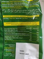 Judia verde redonda - Informació nutricional