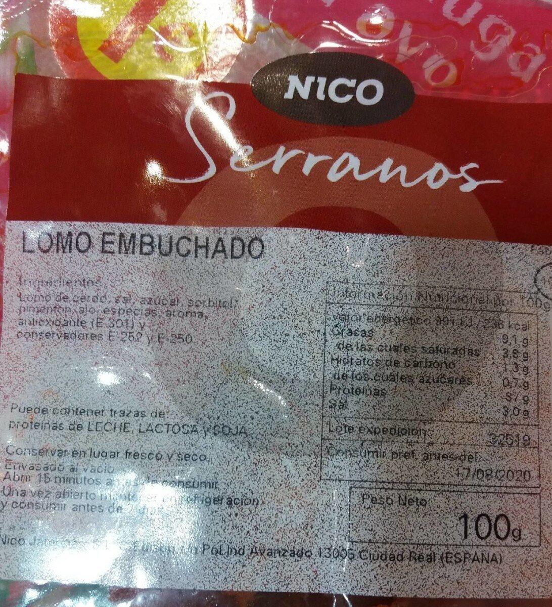 Lomo embuchado - Product - es