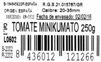 TOMATE MINIKUMATO - Ingredients