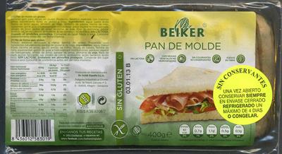 Pan de molde sin gluten - Producto