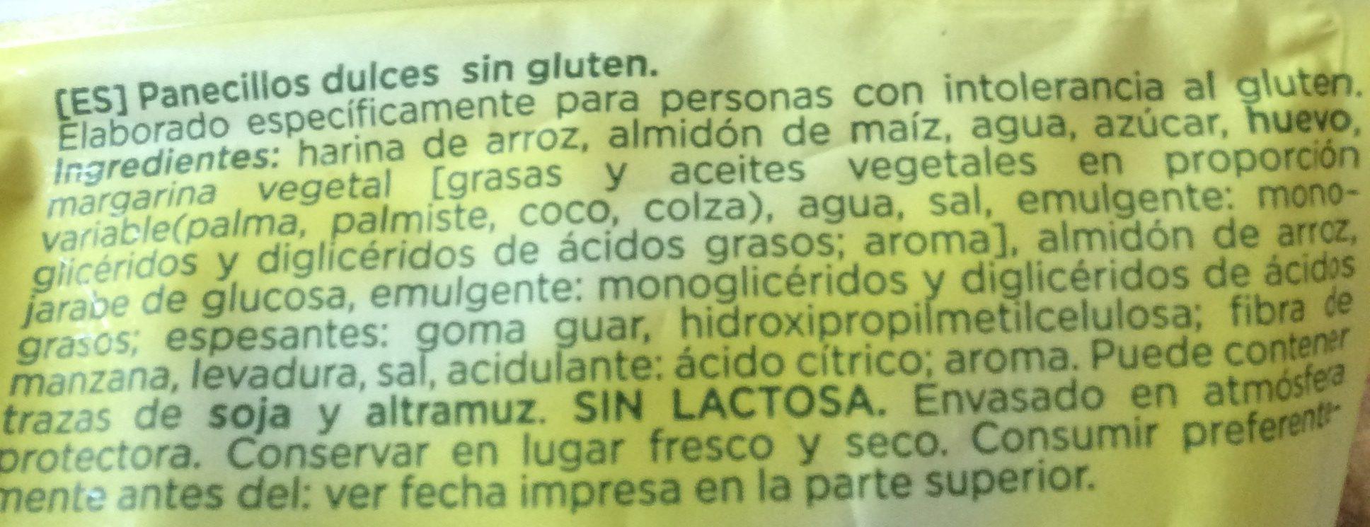 Beiker Panecillos Dulces - Kleine Süsse Brötchen - Ingredients - es