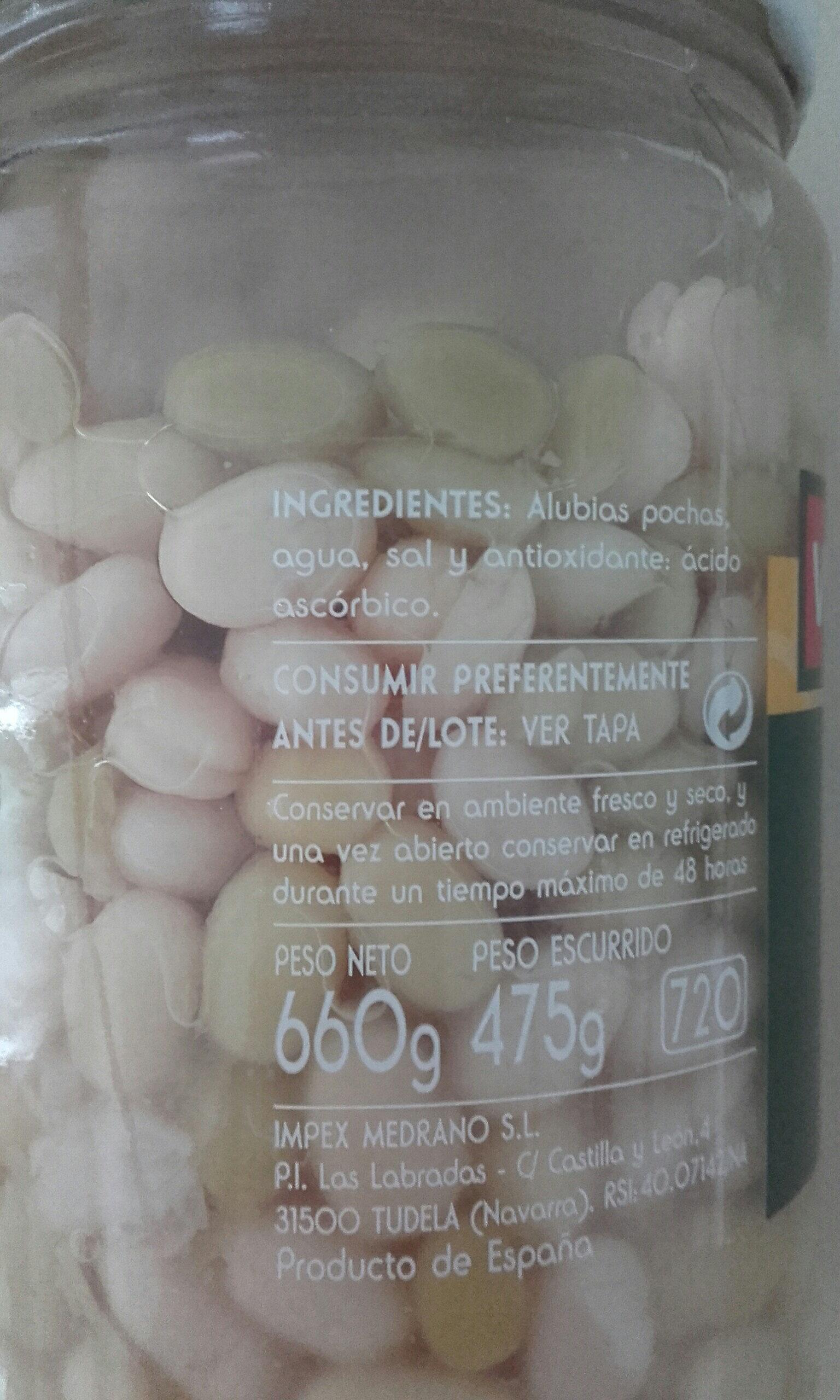 Alubias pochas - Ingredients