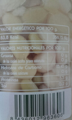 Alubias pochas - Nutrition facts