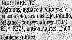 Aceituna verde natural malagueña partida - Ingredients - es