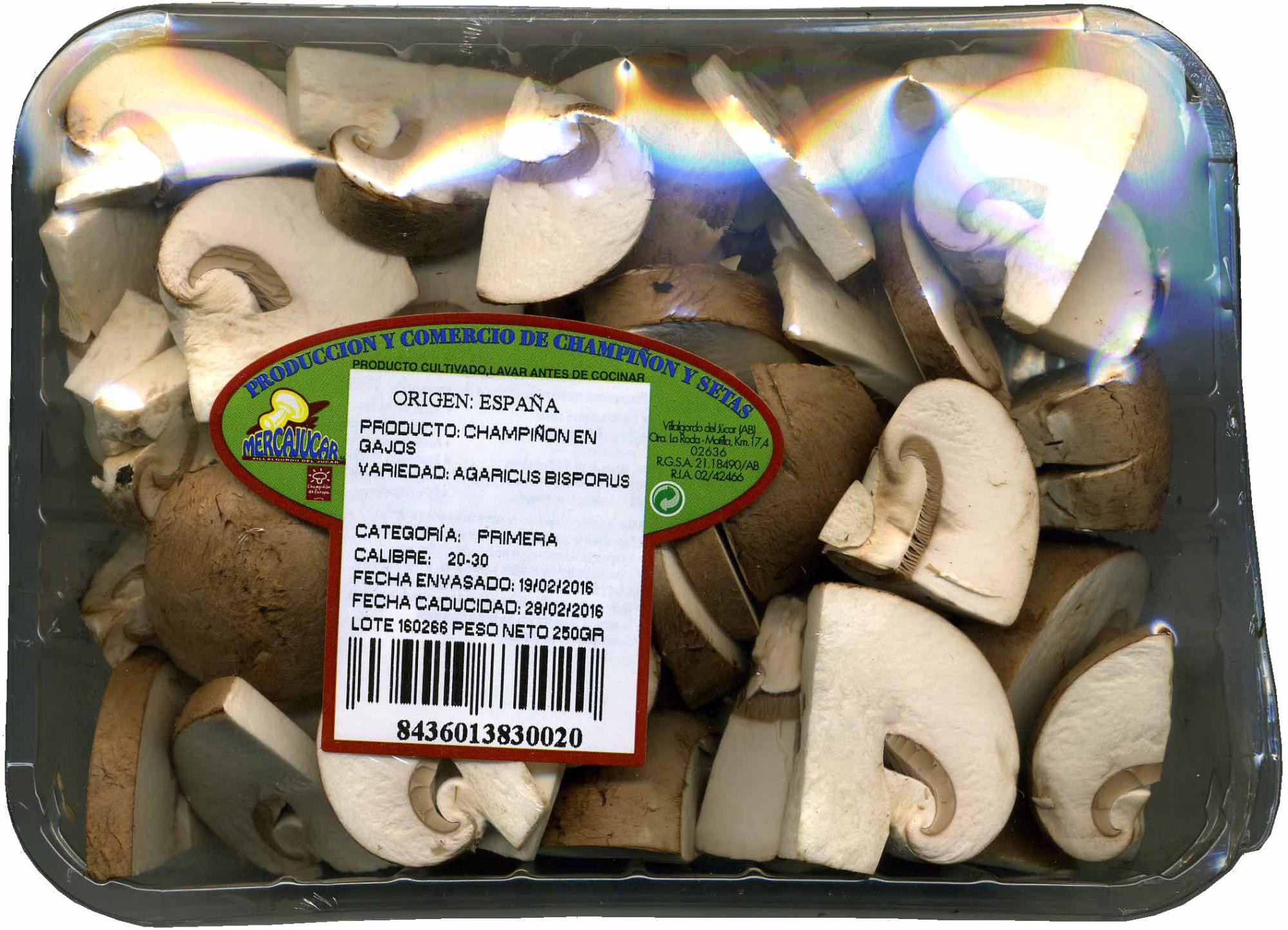 Champiñones cuarteados - Produit - es