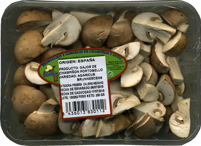 Champiñones Portobello cuarteados - Producto
