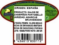 Champiñones Portobello cuarteados - Ingredientes