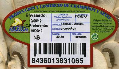 Champiñón laminado - Ingrédients - es