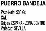 """Puerros """"VC Verduras Curro"""" - Ingredients - es"""