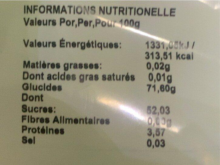 Pomme acide - Voedingswaarden - fr