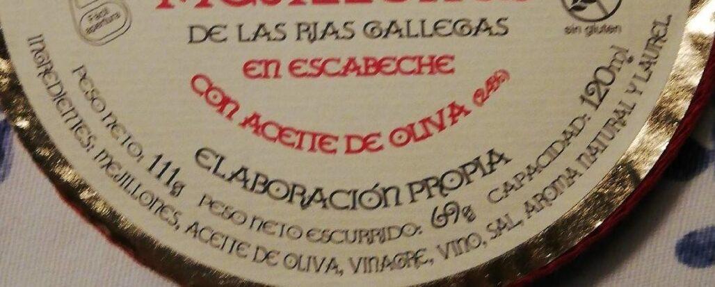Mejillones de las rías gallegas - Ingrédients - es