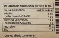 Mejillones de las rías gallegas - Informations nutritionnelles - es