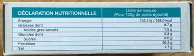 Moules de Galice à l'escabèche - Nutrition facts - fr