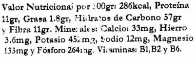 Copos de trigo - Informations nutritionnelles - es