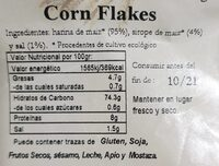 Corn Flakes - Informations nutritionnelles - es