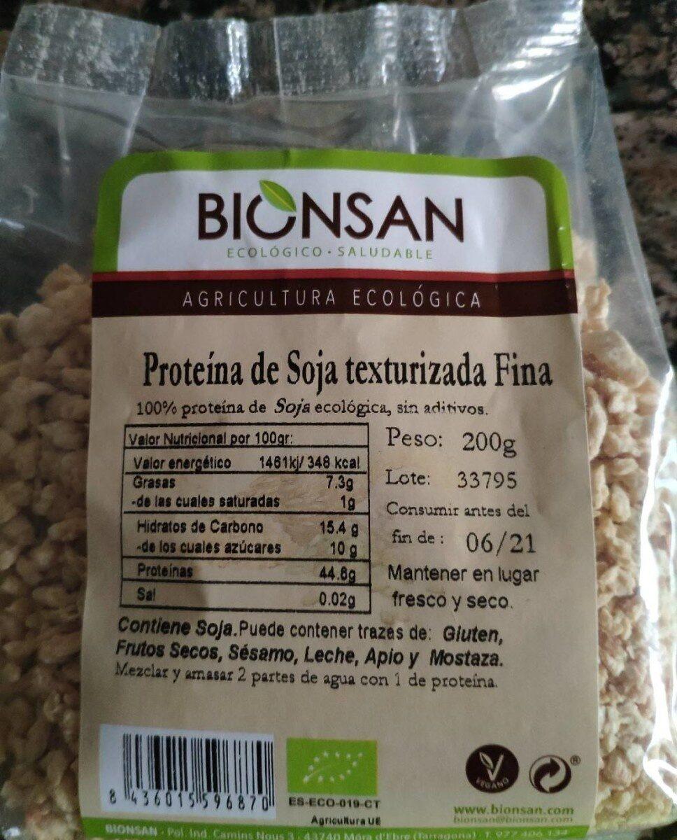 Proteína de soja texturizada fina - Producto - es
