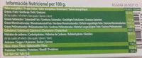Polvorones sin gluten - Informations nutritionnelles