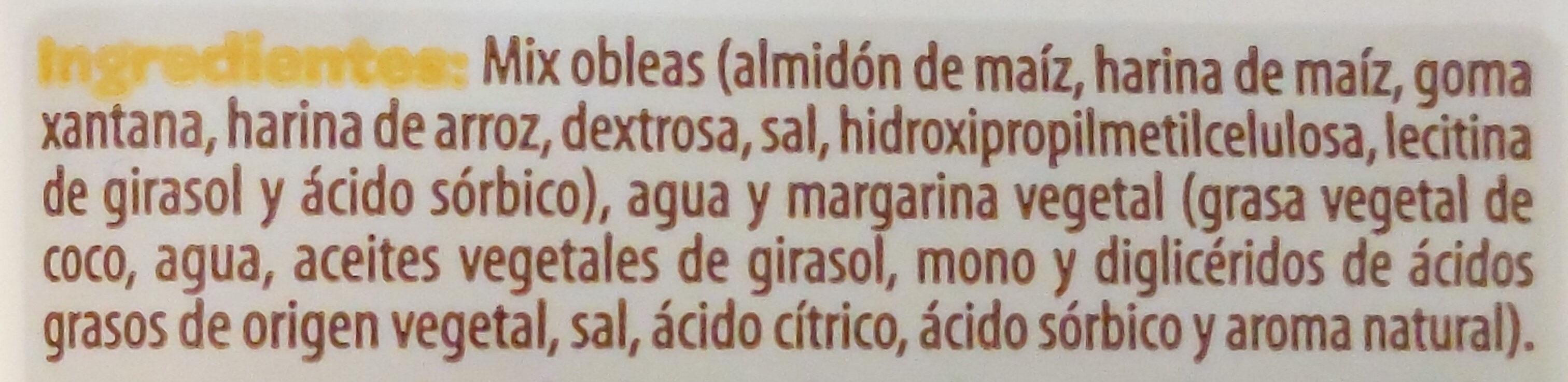 Masa de obleas - Ingrediënten - es