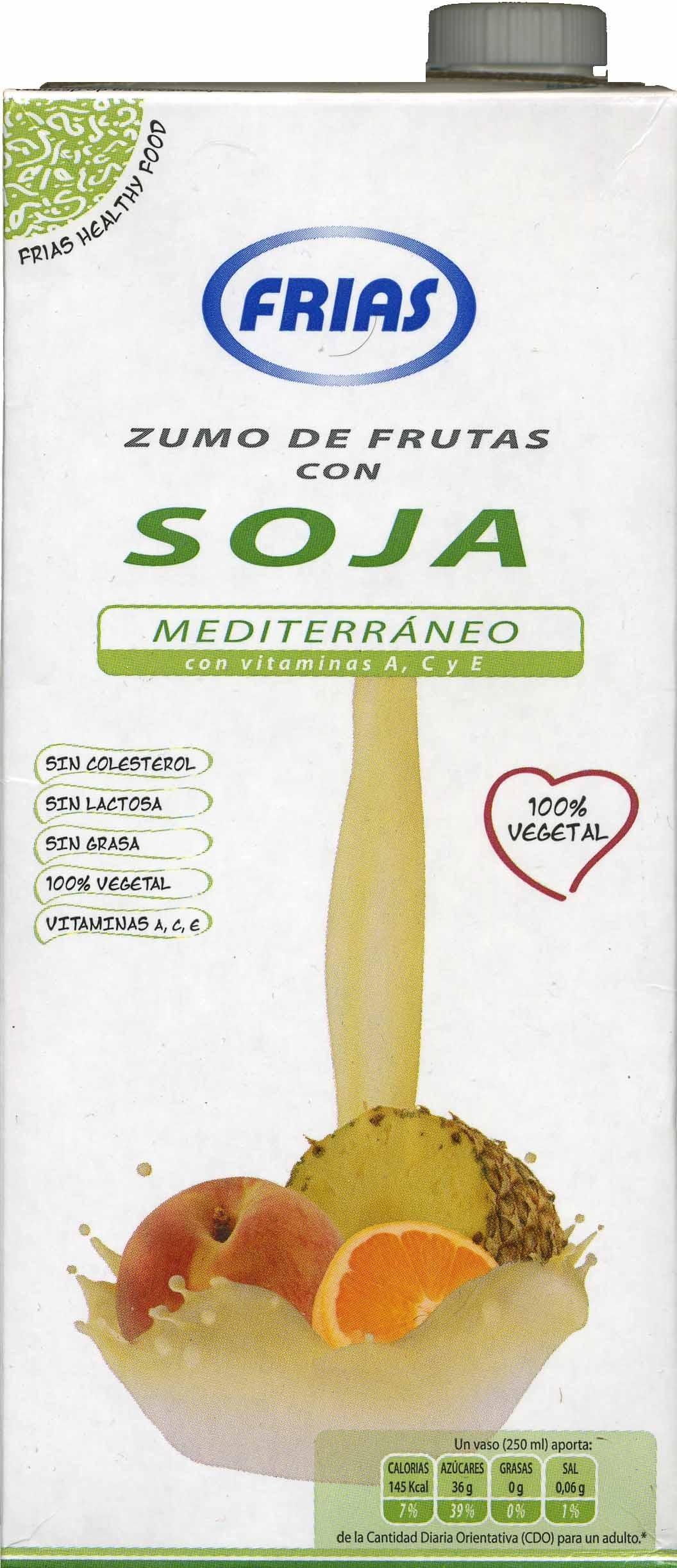 """Bebida de zumo y soja """"Frías"""" Mediterráneo - Producte"""