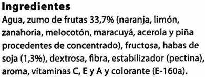 """Bebida de zumo y soja """"Frías"""" Mediterráneo - Ingredients"""