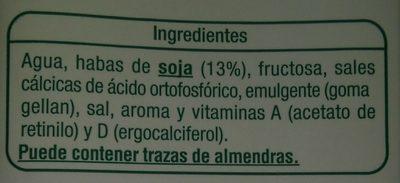 Bebida de Soja - Ingredientes