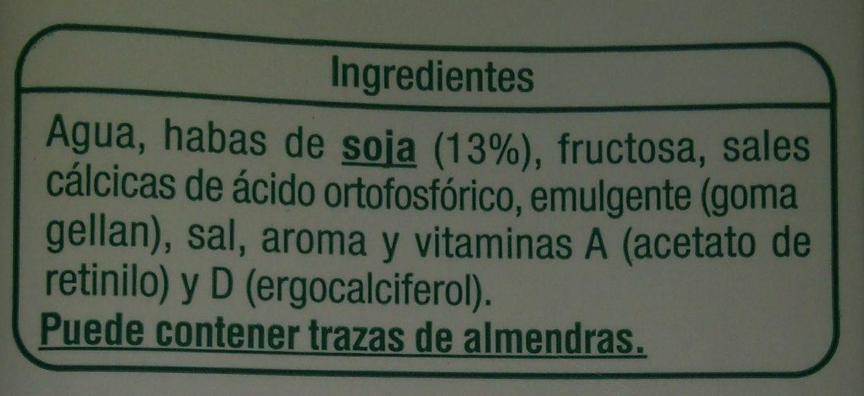 Bebida de soja uht - Ingredients - es