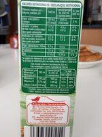 Bebida de soja uht - Nutrition facts - es