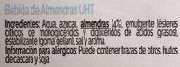 Bebida De Almendras Uht - Ingredients