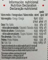 Bebida de almendras Zero sin azúcares añadidos - Informations nutritionnelles